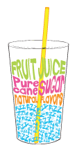 70% pure natural fruit juice and 30 percent sparkling water